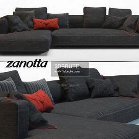 Pianoalto black sofa