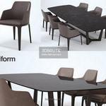 poliform Concorde   Grace Table & chair 230