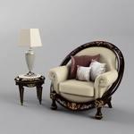 citterio kreslo + stolik sofa 21