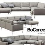 Boconcept  Carlton black sofa 142