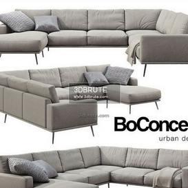 Boconcept  Carlton black sofa