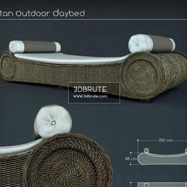 RATTAN OUTDOOR DAYBED_Max Ottoman 23 - 3dsmax - Vray or Corona