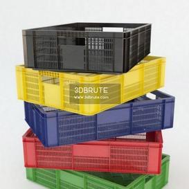 plastic crates 3dmodel