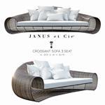 Janus et Cie   CROISSANT  3 SEAT sofa 166