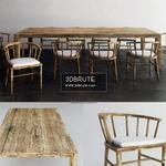wood dining  ethnic Table & chair 321