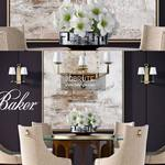 BAKER DINING Table & chair 345