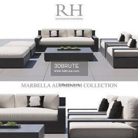RH MARBELLA ALUMINUM sofa