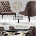 vittoriafrigerio Poggi High capitonne Table & chair 355