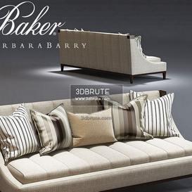 Baker  Tipton Tufted sofa