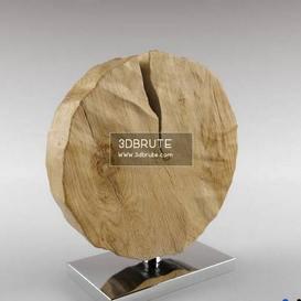 deco slice of wood