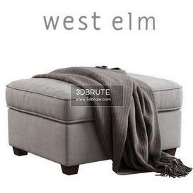 West Elm_Henry Ottoman 49 - 3dsmax - Vray or Corona