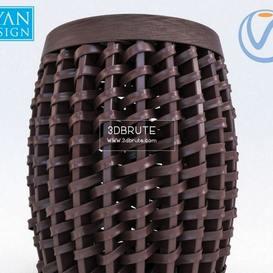 Woven Sienna Stool_Corona Ottoman 53 - 3dsmax - Vray or Corona