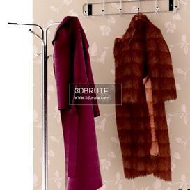 coats on a hanger