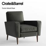 Crate and Barrel Torino Velvet Chair sofa 402