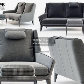 Edouard ED183 3ds sofa