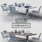 gervasoni   brick Table & chair 410