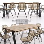 DISSET  & Ashanti Table & chair 442