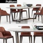 Poliform GRACE  CONCORDE  set Table & chair 449