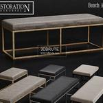 PEWTER & BURNISHED BRASS vray_ Ottoman 64