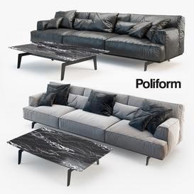 Plexform  TRIBECA  TBDI315 3ds sofa