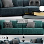 minotti lounge sofa 498