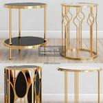 gold side s Table & chair 473