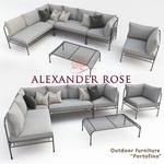 Alexandr Rose  outdoor furniture pfortofino nabor sofa 509