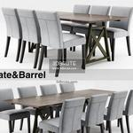 Crate&Barrel  and Table & chair 493