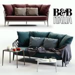 B&B italya ERICA BlueRed sofa 544