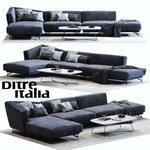 Ditre italya  Lennox Blue sofa 568