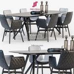 Freifrau Dining set 02 Table & chair 529