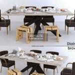 dialma brown set Table & chair 530