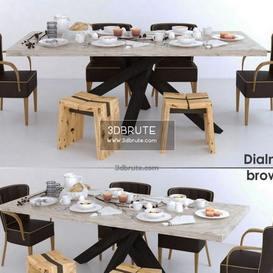dialma brown set