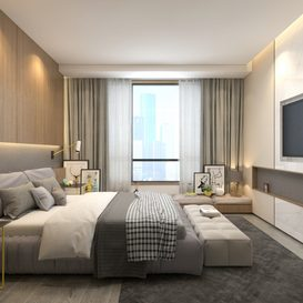 Bed room Modern style Extension 2018 106