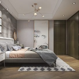 Bed room Modern style Extension 2018 93
