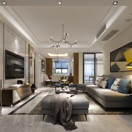 Living room Modern style Extension 2018 113 - 3dsmax - Vray
