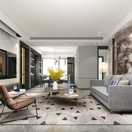 Living room Postmodern style Extension 2018 23 - 3dsmax - Vray
