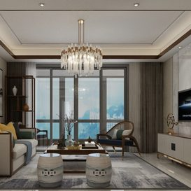 Living room Chinese style Extension 2018 241 - 3dsmax - Vray