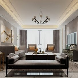 Living room Nordic style Extension 2018 96 - 3dsmax - Vray