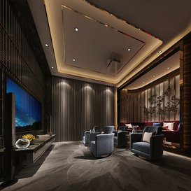 Cinema room Postmodern style Extension 2018 1