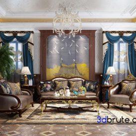 Sofa classic 3dmodel 3dsmax