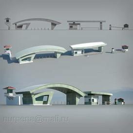 Gate 3dmodel 3dsmax