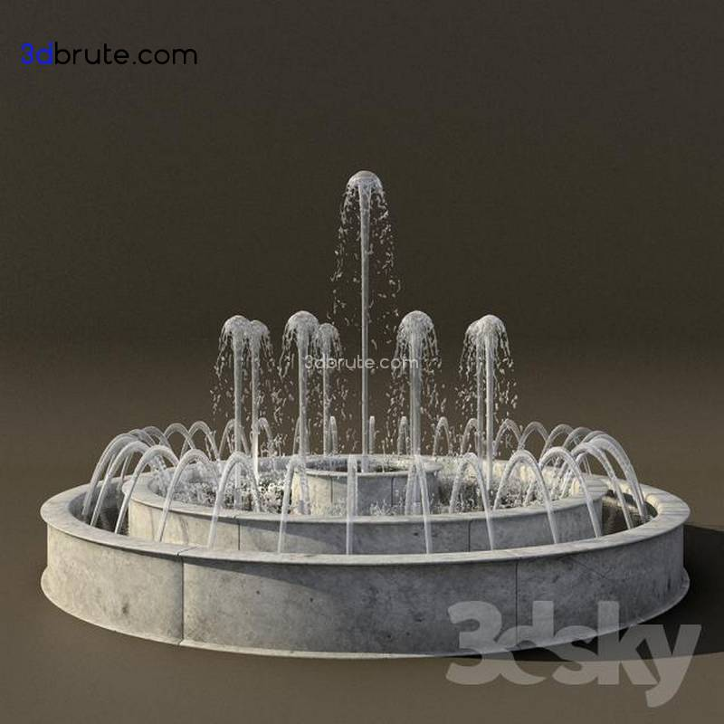 Fountain 2 - Download -3d Models Free -3dbrute