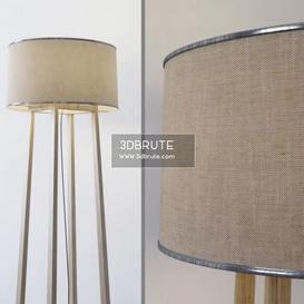wood  Haya Floor lamp 157 3dmodel  3dsmax vray