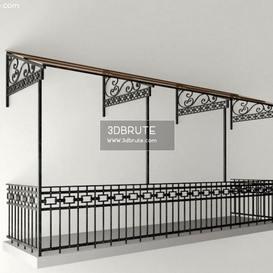 balcony 3dmodel 3dsmax
