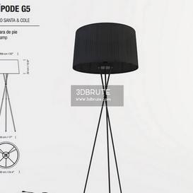 Santa&Cole Tripod G5 Floor lamp 163 3dmodel  3dsmax vray
