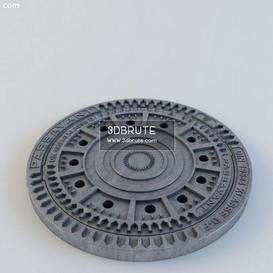 sewer cover 3dmodel 3dsmax