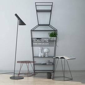 Set 1 Floor lamp 165 3dmodel  3dsmax vray