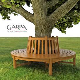 bench round garpa 3dmodel 3dsmax