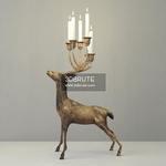 Oversize Brass Deer Candle Holder Floor lamp 173
